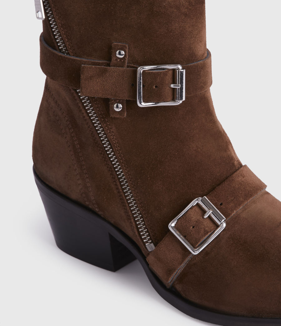 Womens Lior Suede Boots (tan) - Image 4