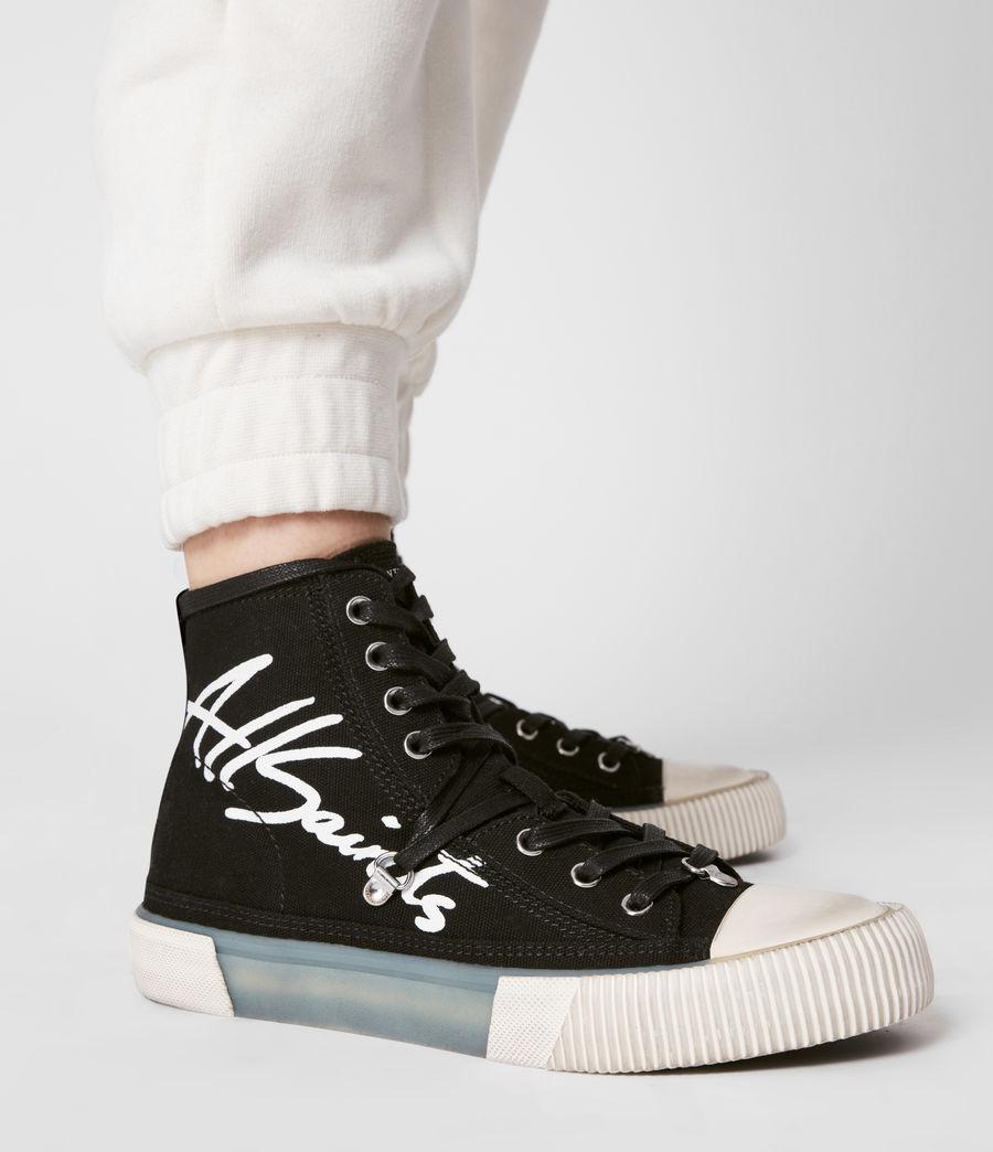Womens Elena Signature High Top Sneakers (black) - Image 2