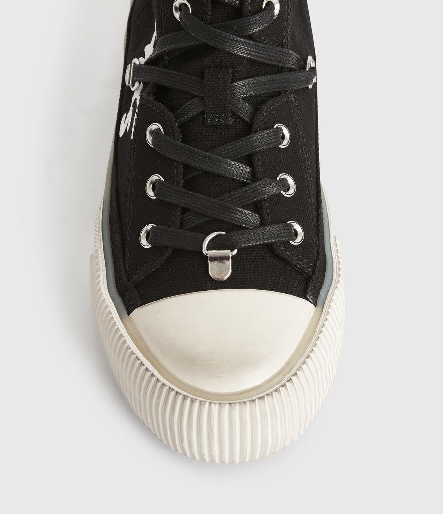 Womens Elena Signature High Top Sneakers (black) - Image 3