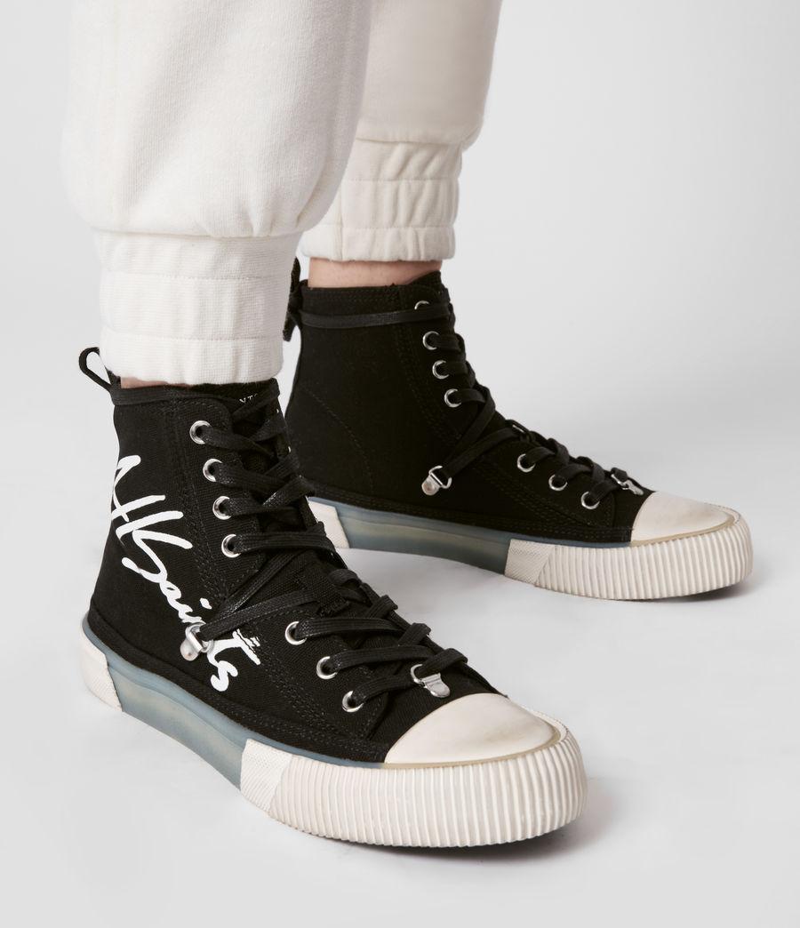 Womens Elena Signature High Top Sneakers (black) - Image 4