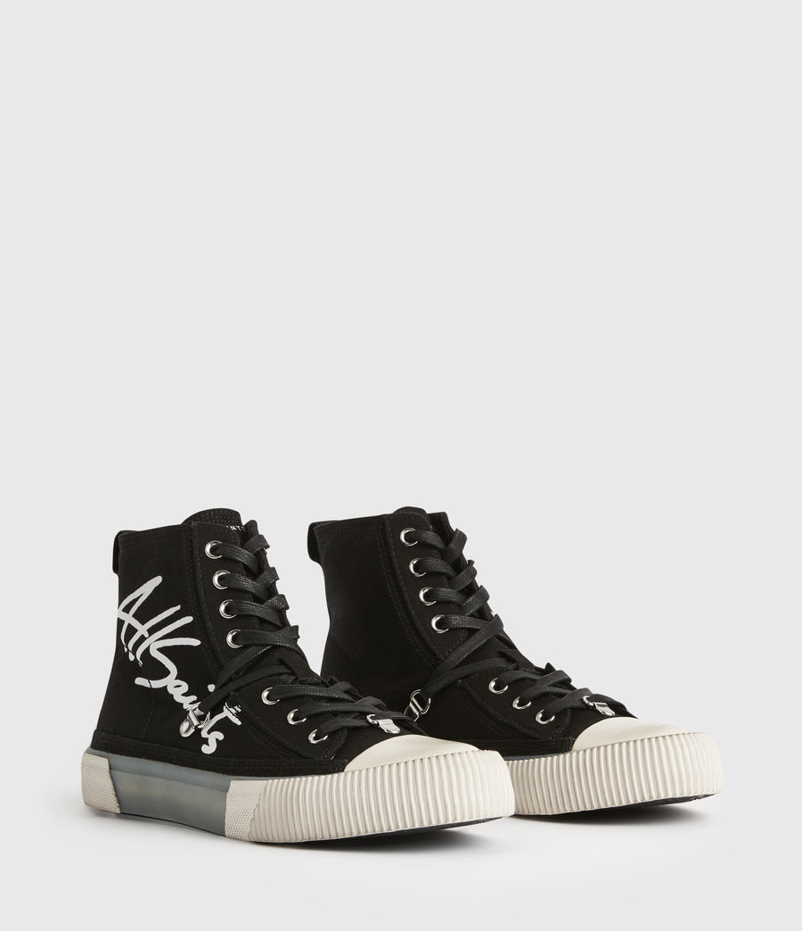 Womens Elena Signature High Top Sneakers (black) - Image 5