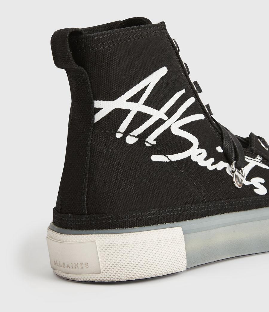 Womens Elena Signature High Top Sneakers (black) - Image 6