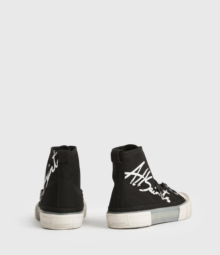 Womens Elena Signature High Top Sneakers (black) - Image 7