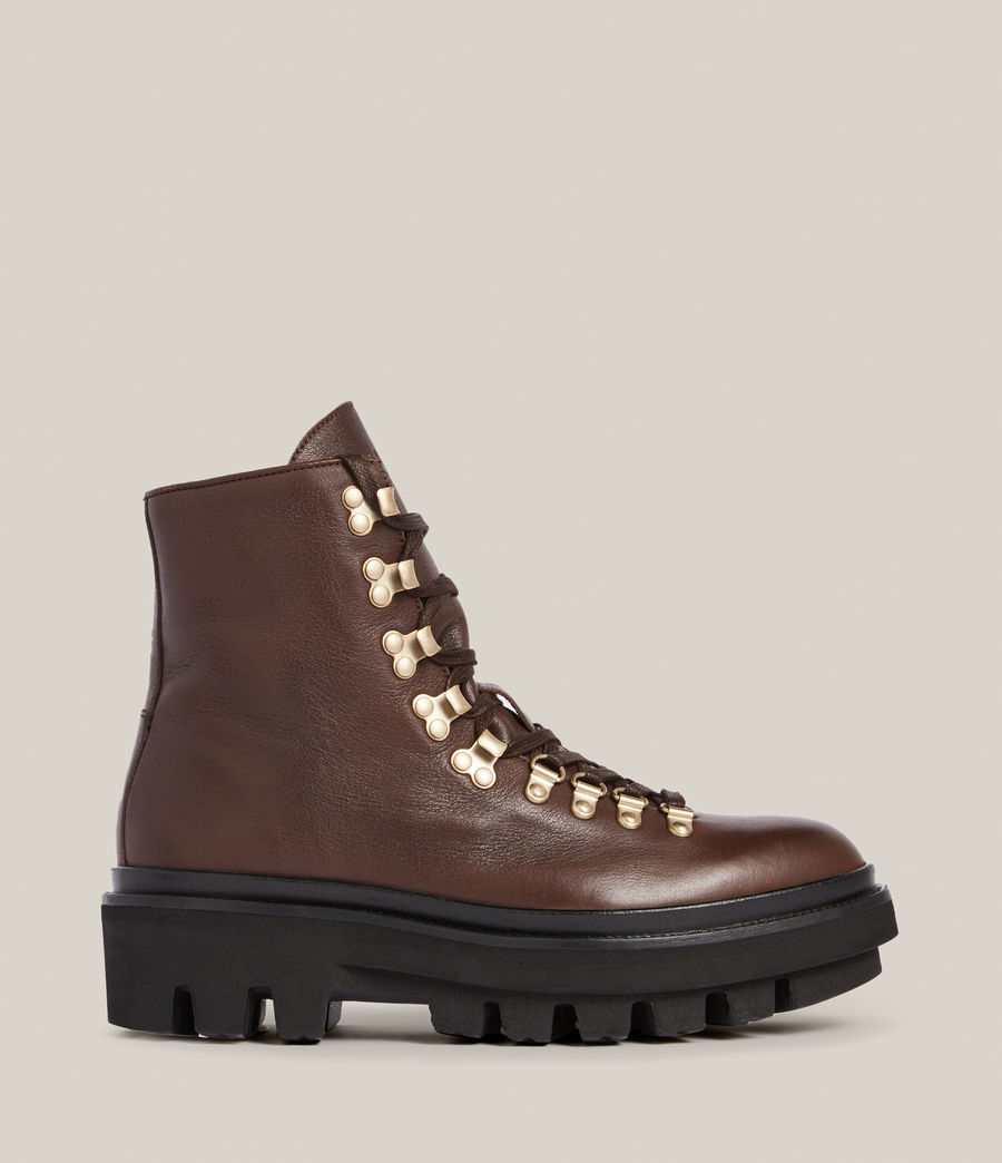 Women's Wanda Leather Boots (brown) - Image 1
