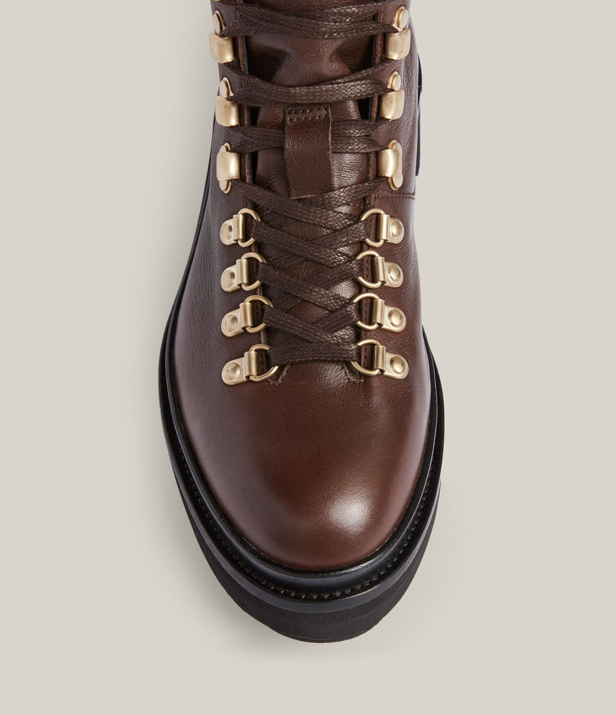 Women's Wanda Leather Boots (brown) - Image 3