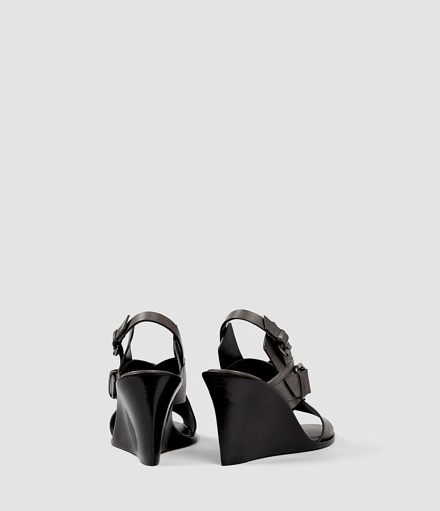 Womens Elin Wedge Sandal (dark_grey) - Image 3