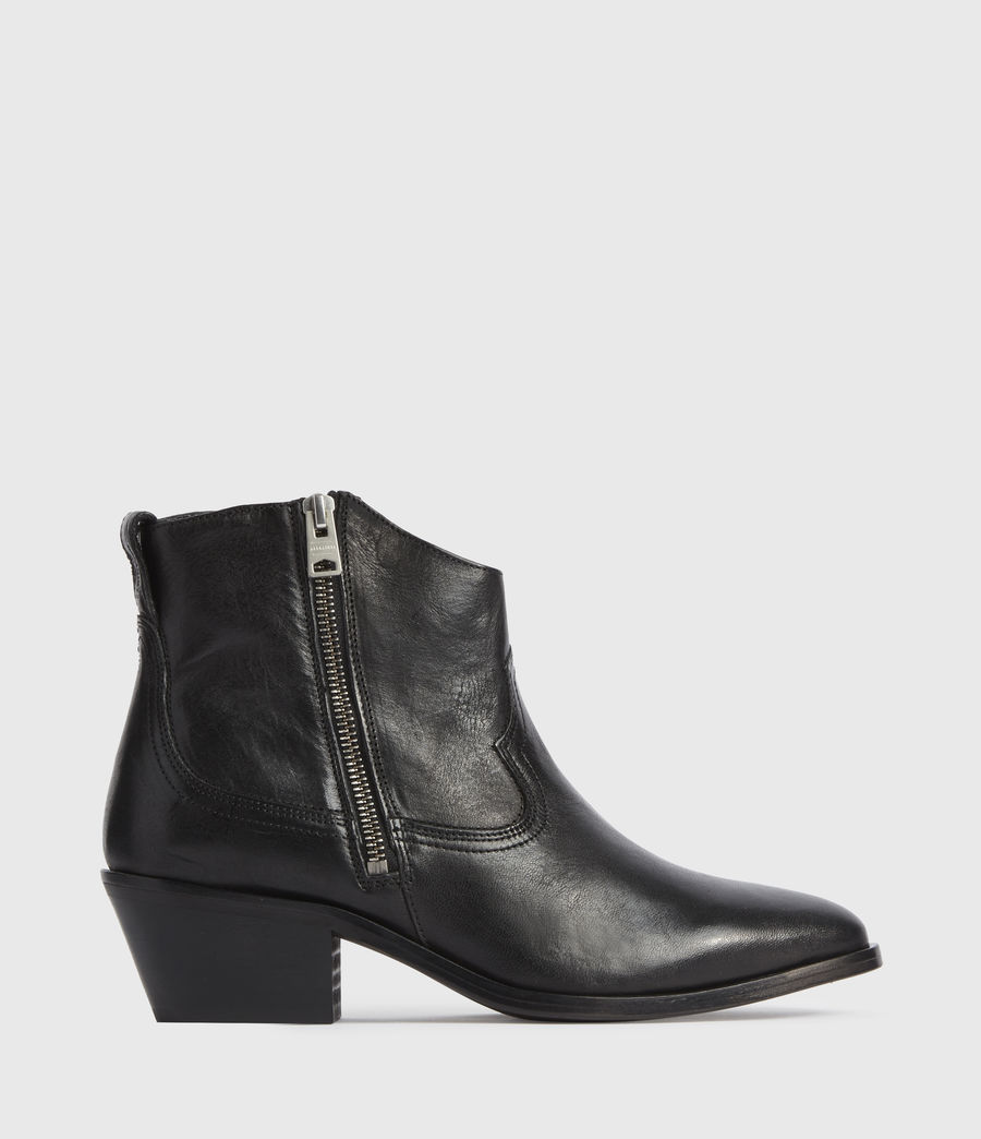 Women's Carlotta Leather Boots (black) - Image 1