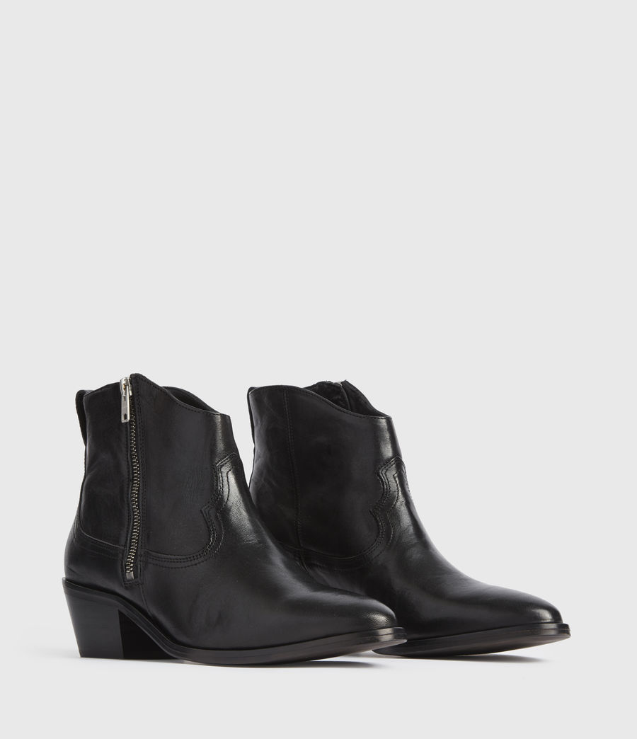 Women's Carlotta Leather Boots (black) - Image 2