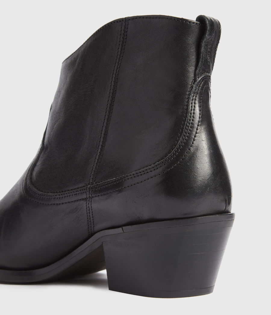 Women's Carlotta Leather Boots (black) - Image 3