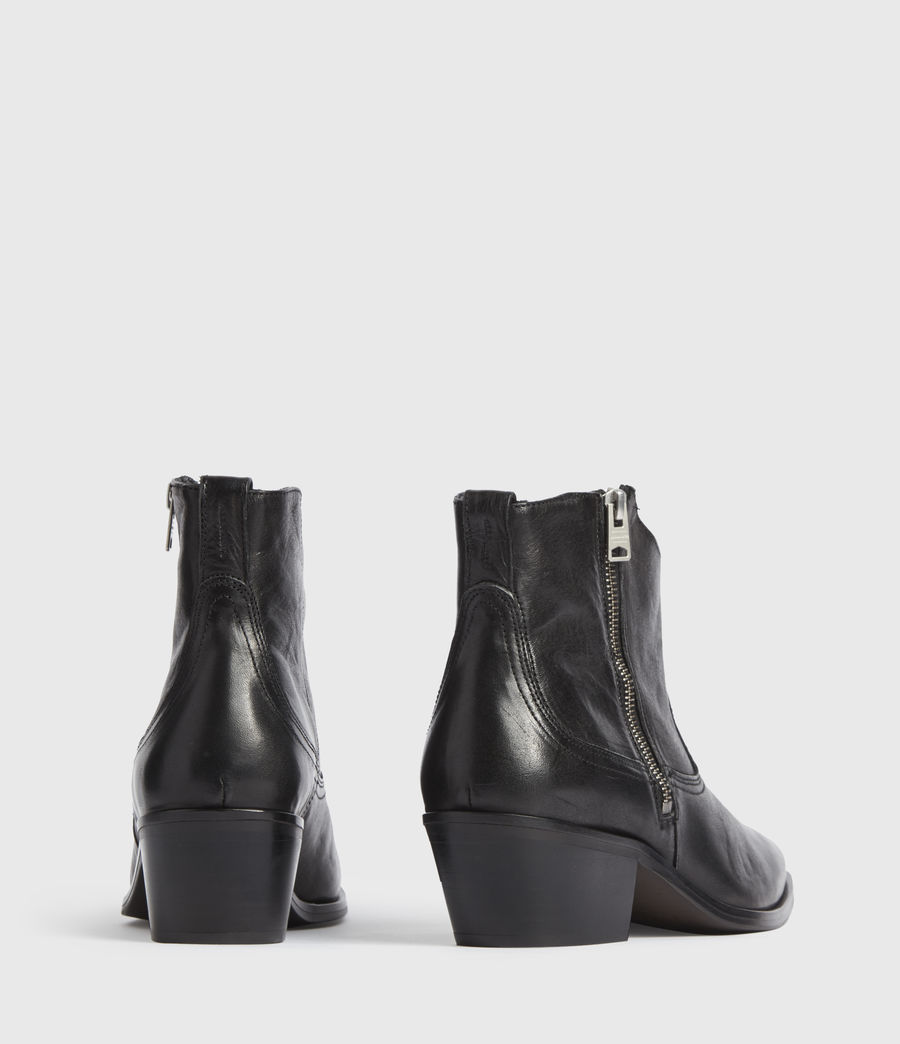 Women's Carlotta Leather Boots (black) - Image 4