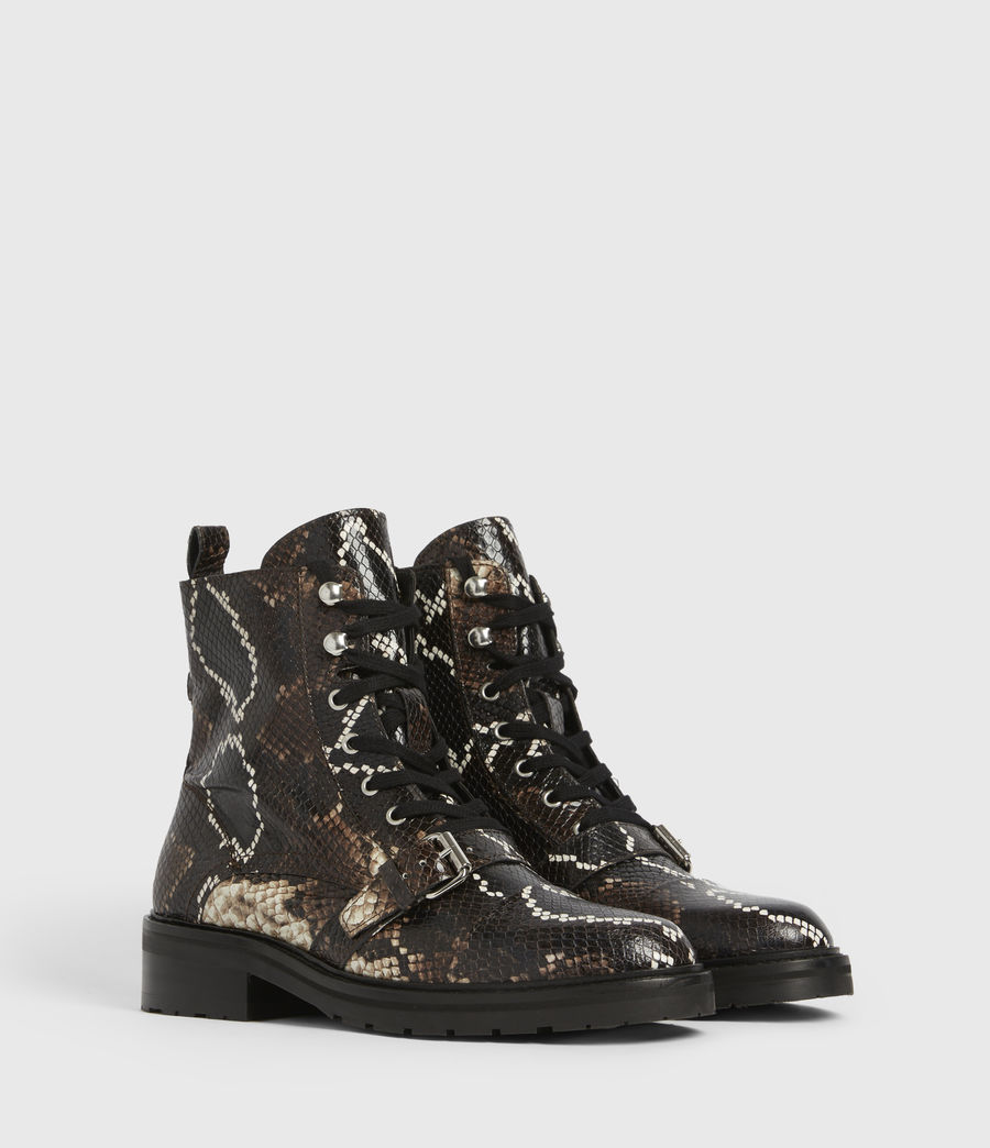 Women's Donita Leather Snake Boots (multi) - Image 3