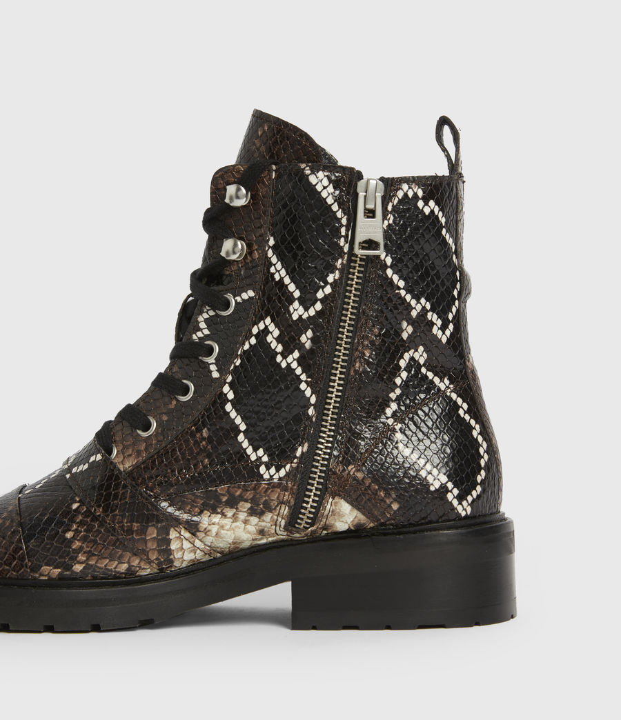 Women's Donita Leather Snake Boots (multi) - Image 4