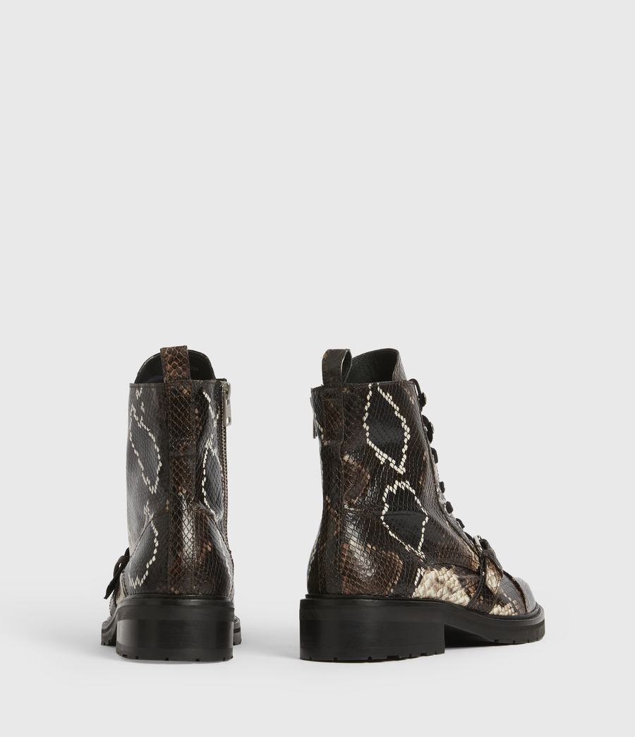 Womens Donita Leather Snake Boots (multi) - Image 6