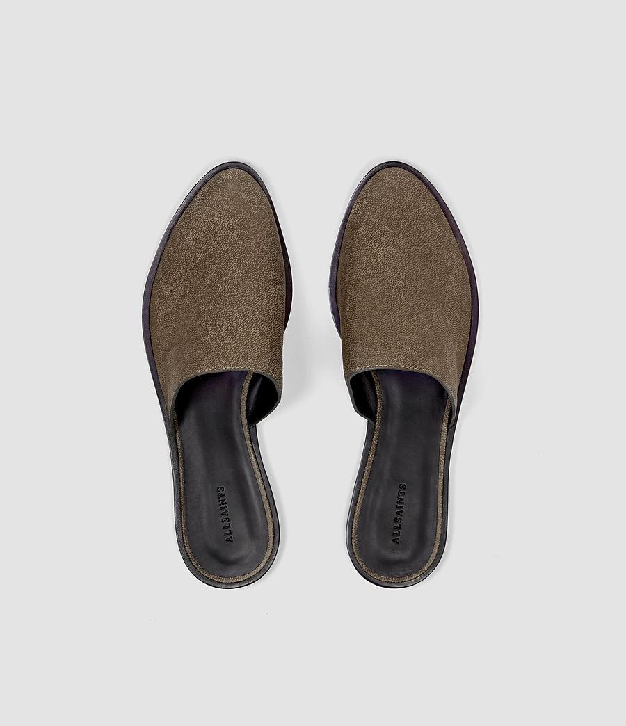 Womens Rick Slip On Sandal (dark_khaki) - Image 4