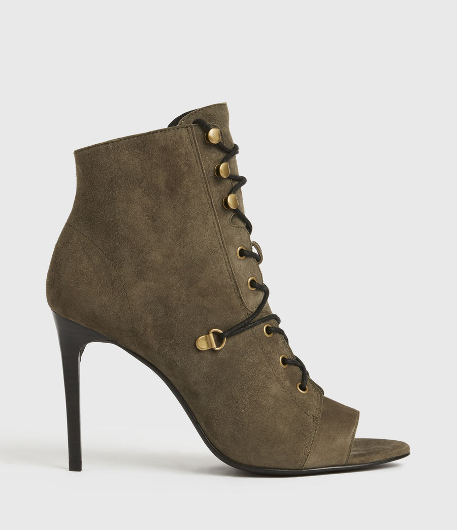 Mujer Joanna Suede Boots (khaki) - Image 1