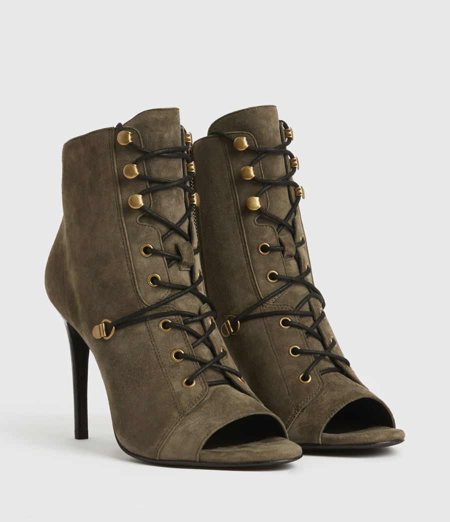 Mujer Joanna Suede Boots (khaki) - Image 3