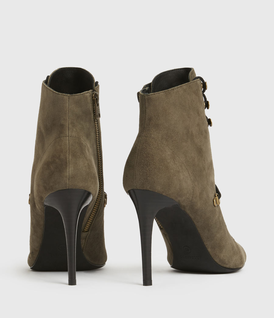 Mujer Joanna Suede Boots (khaki) - Image 5