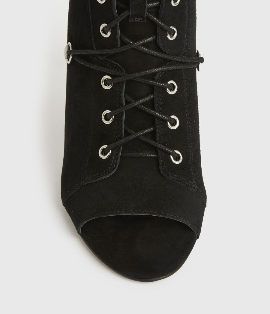 Womens Joanna Suede Boots (black) - Image 2