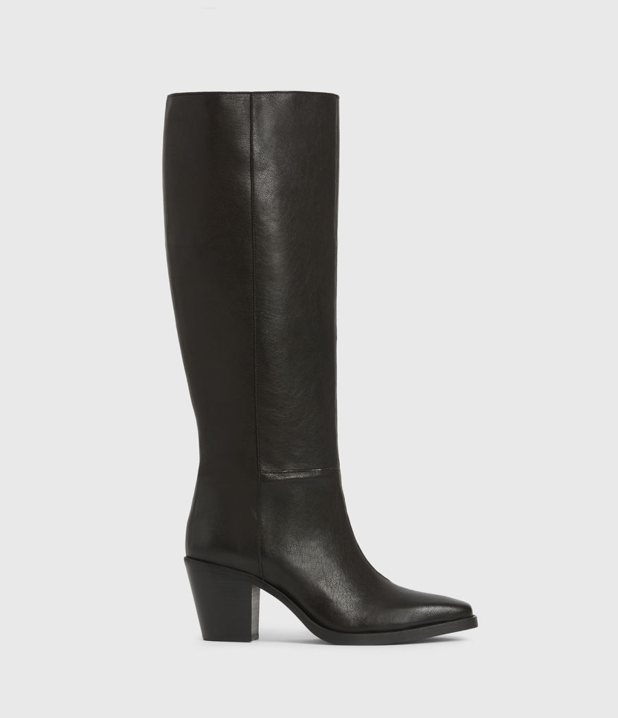 Women's Cohen Knee High Leather Boots (black) - Image 1