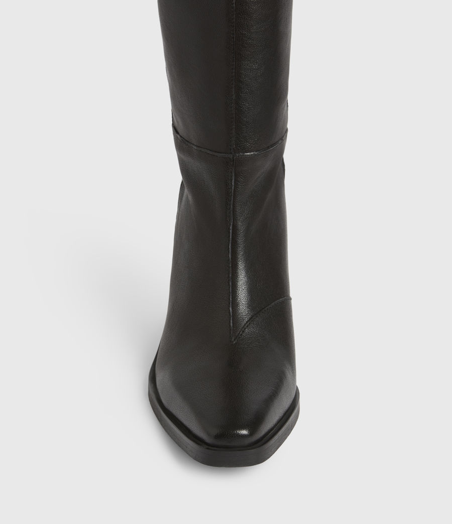 Women's Cohen Knee High Leather Boots (black) - Image 2