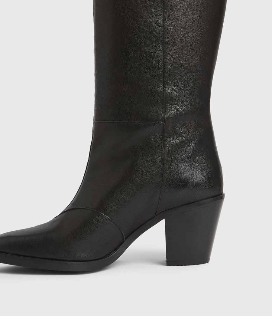 Women's Cohen Knee High Leather Boots (black) - Image 4