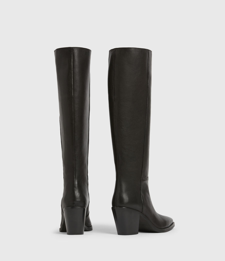 Women's Cohen Knee High Leather Boots (black) - Image 5