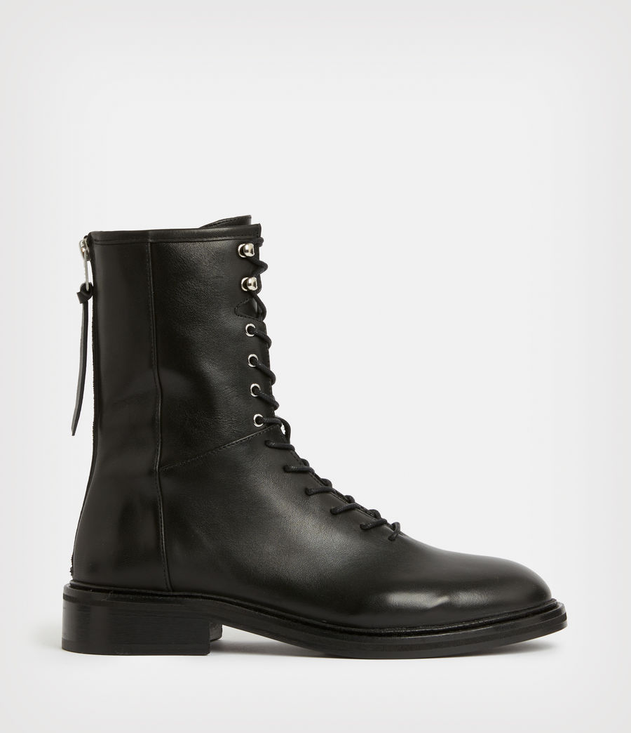Women's Misty Leather Boots (black) - Image 1