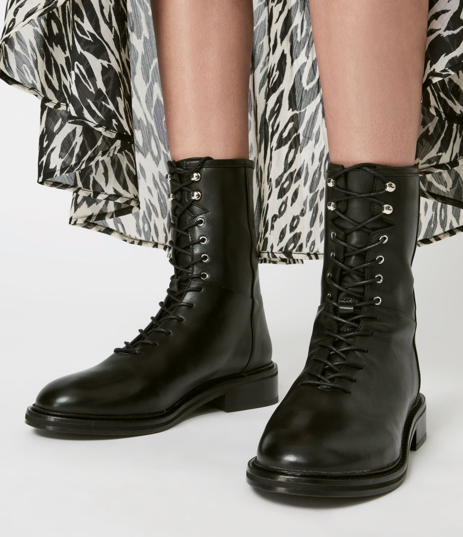Women's Misty Leather Boots (black) - Image 2