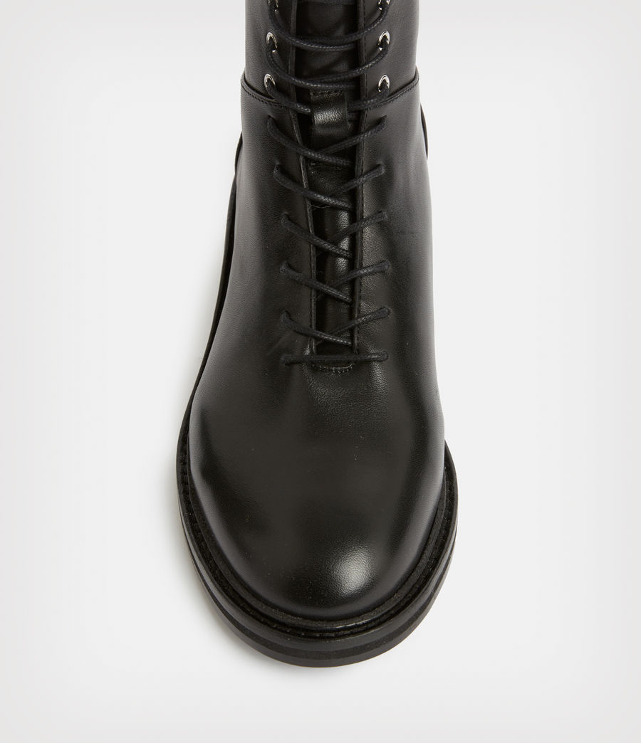 Women's Misty Leather Boots (black) - Image 3