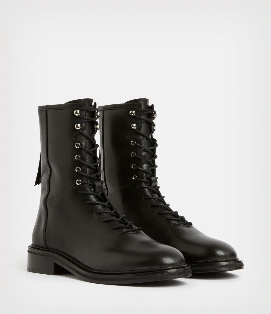 Women's Misty Leather Boots (black) - Image 4