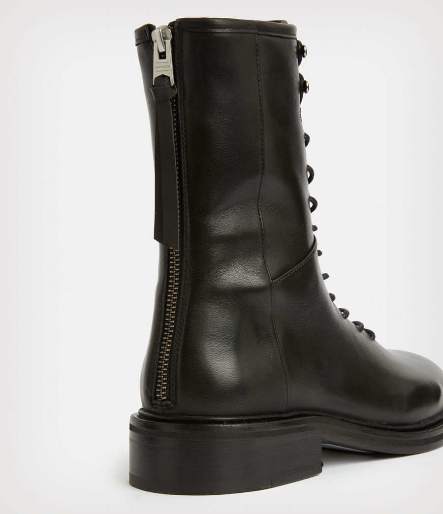 Women's Misty Leather Boots (black) - Image 5