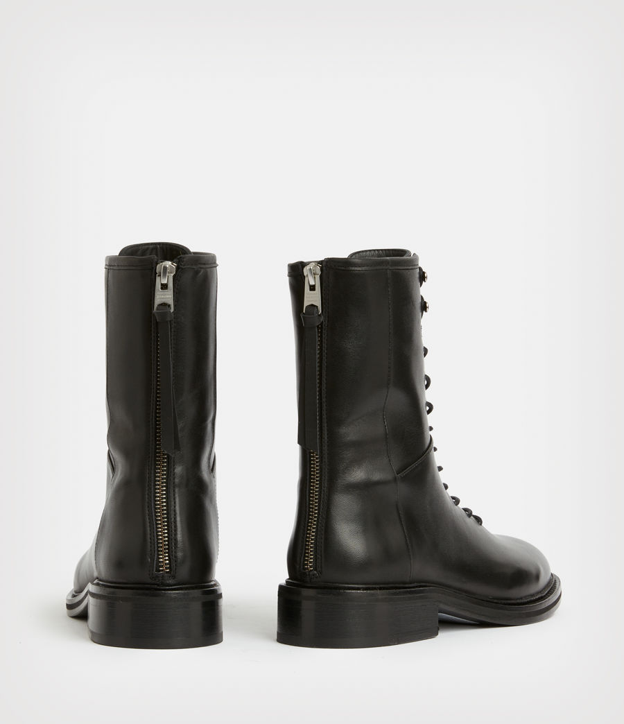 Women's Misty Leather Boots (black) - Image 6