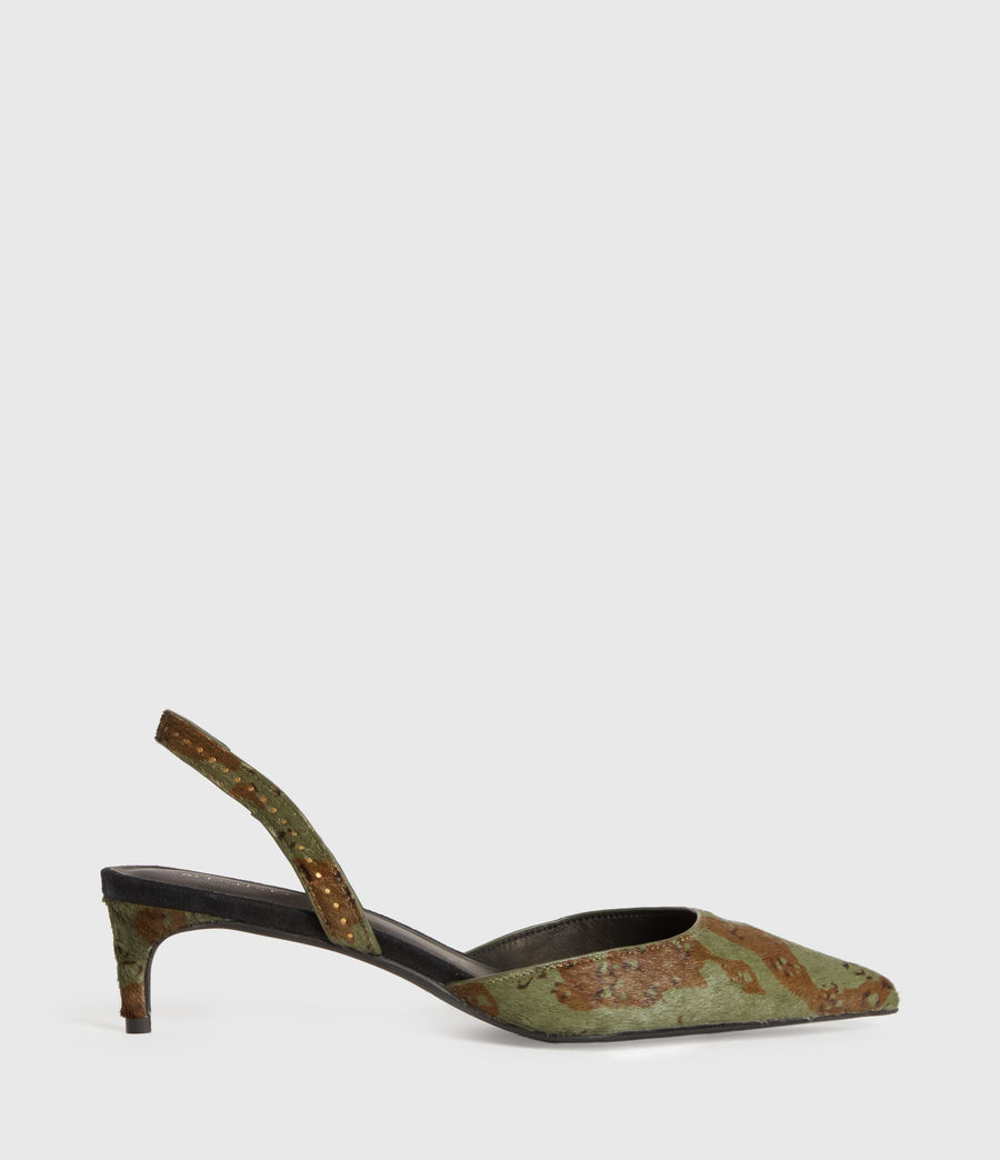 Mujer Mia Leather Slingback Shoes (camo) - Image 1