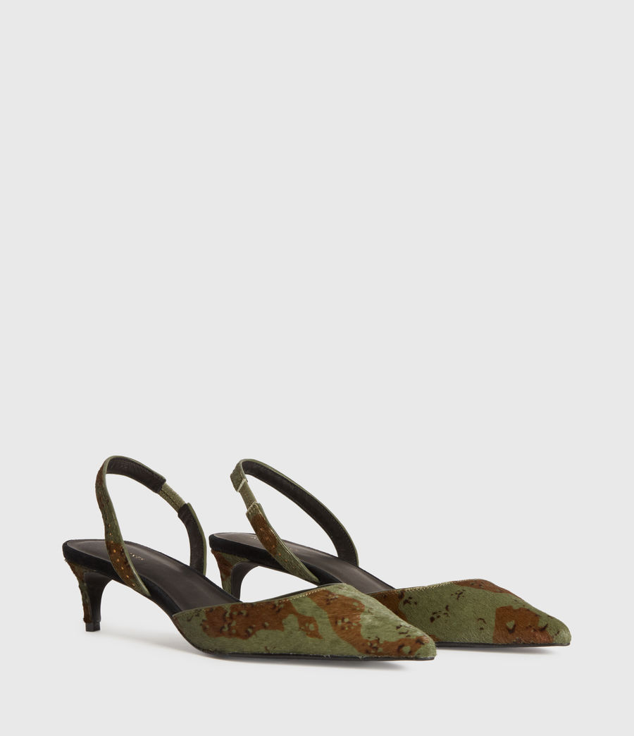 Women's Mia Leather Slingback Shoes (camo) - Image 3