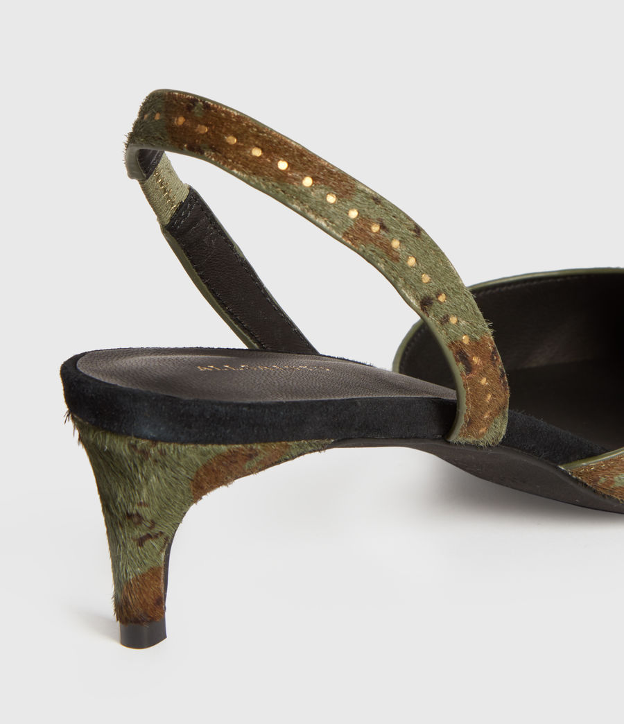 Mujer Mia Leather Slingback Shoes (camo) - Image 3