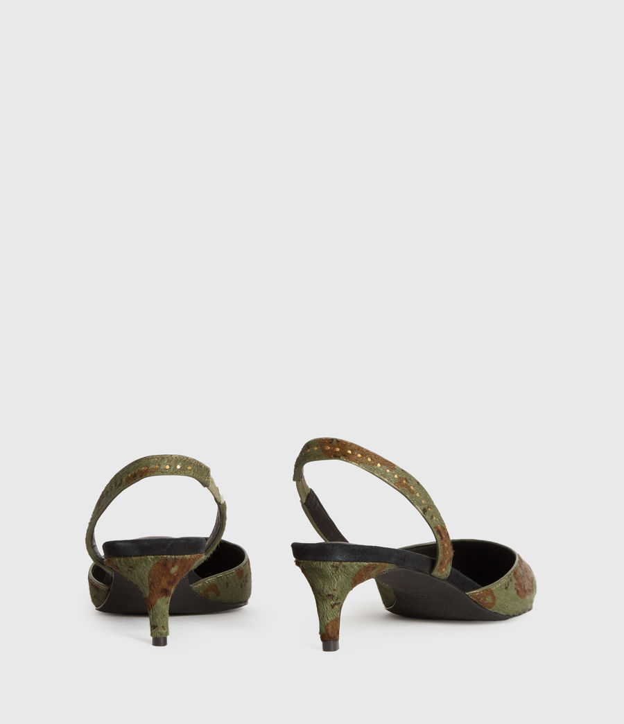 Mujer Mia Leather Slingback Shoes (camo) - Image 4