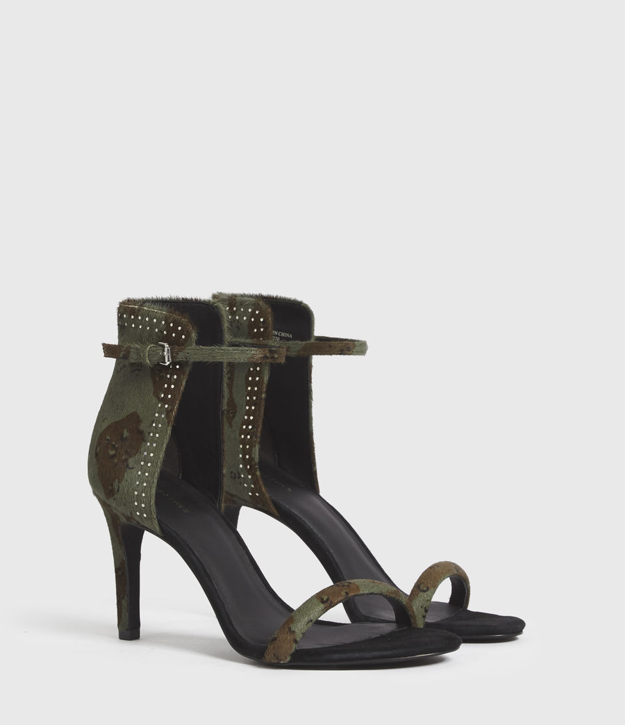Women's Avia Leather Sandals (camo) - Image 3