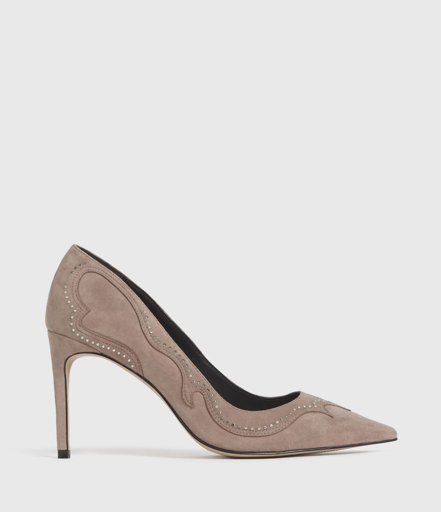 Damen Zehra Suede Court Shoes (blush_pink) - Image 1