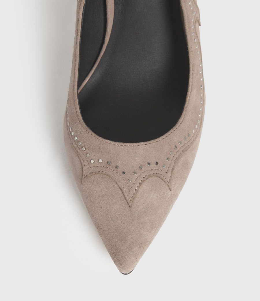 Damen Zehra Suede Court Shoes (blush_pink) - Image 2