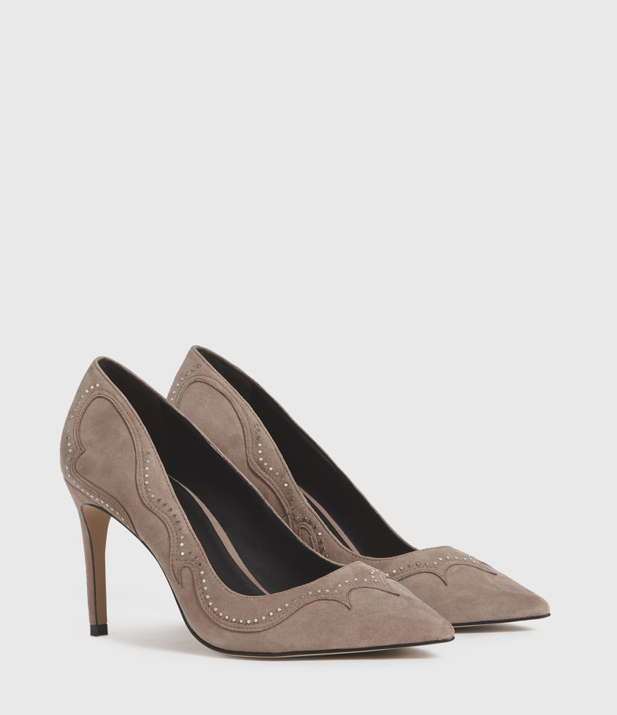 Damen Zehra Suede Court Shoes (blush_pink) - Image 3