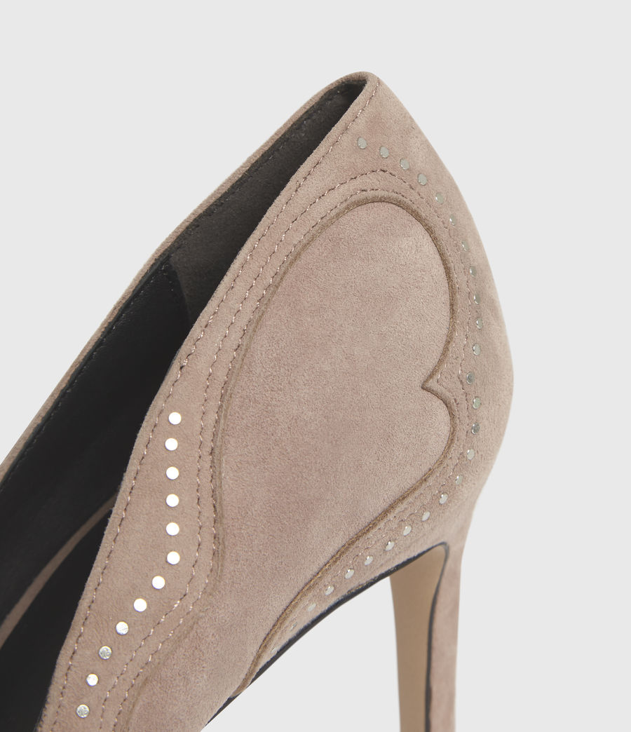 Damen Zehra Suede Court Shoes (blush_pink) - Image 4