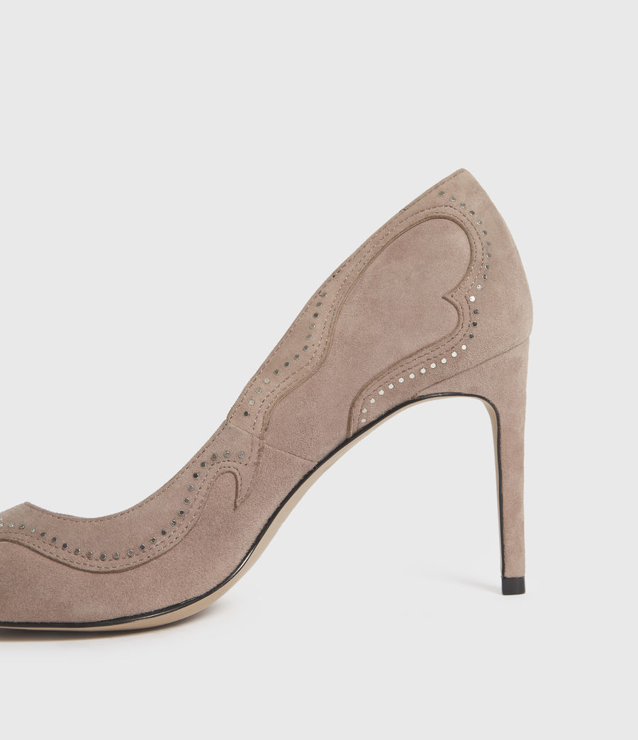 Damen Zehra Suede Court Shoes (blush_pink) - Image 5