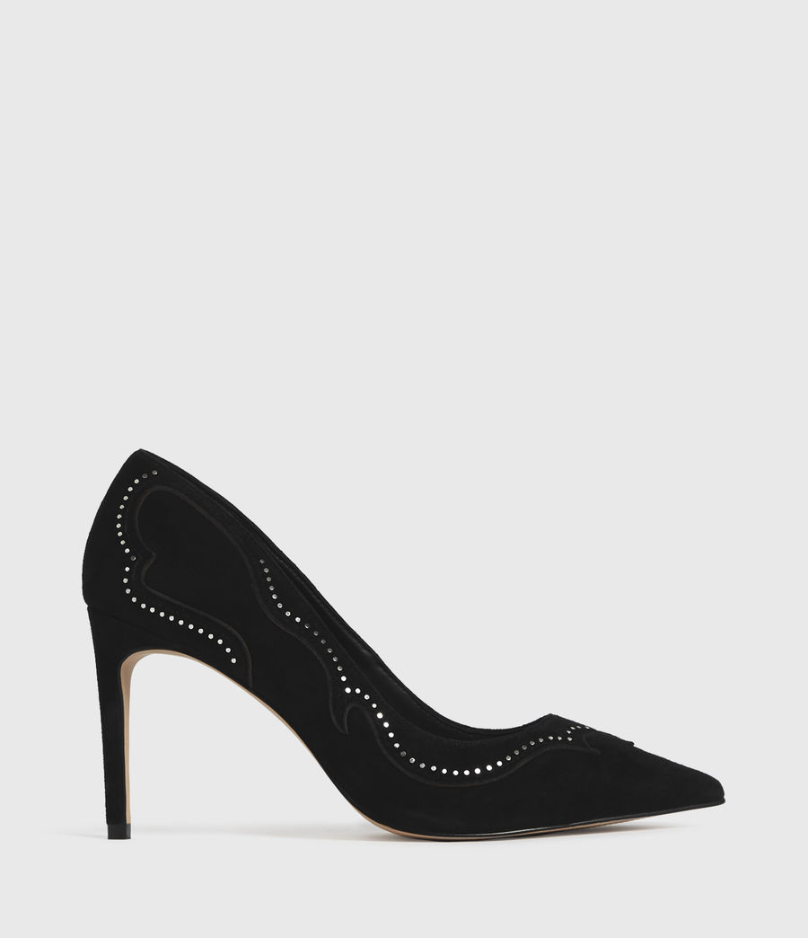 Mujer Zehra Suede Court Shoes (black) - Image 1