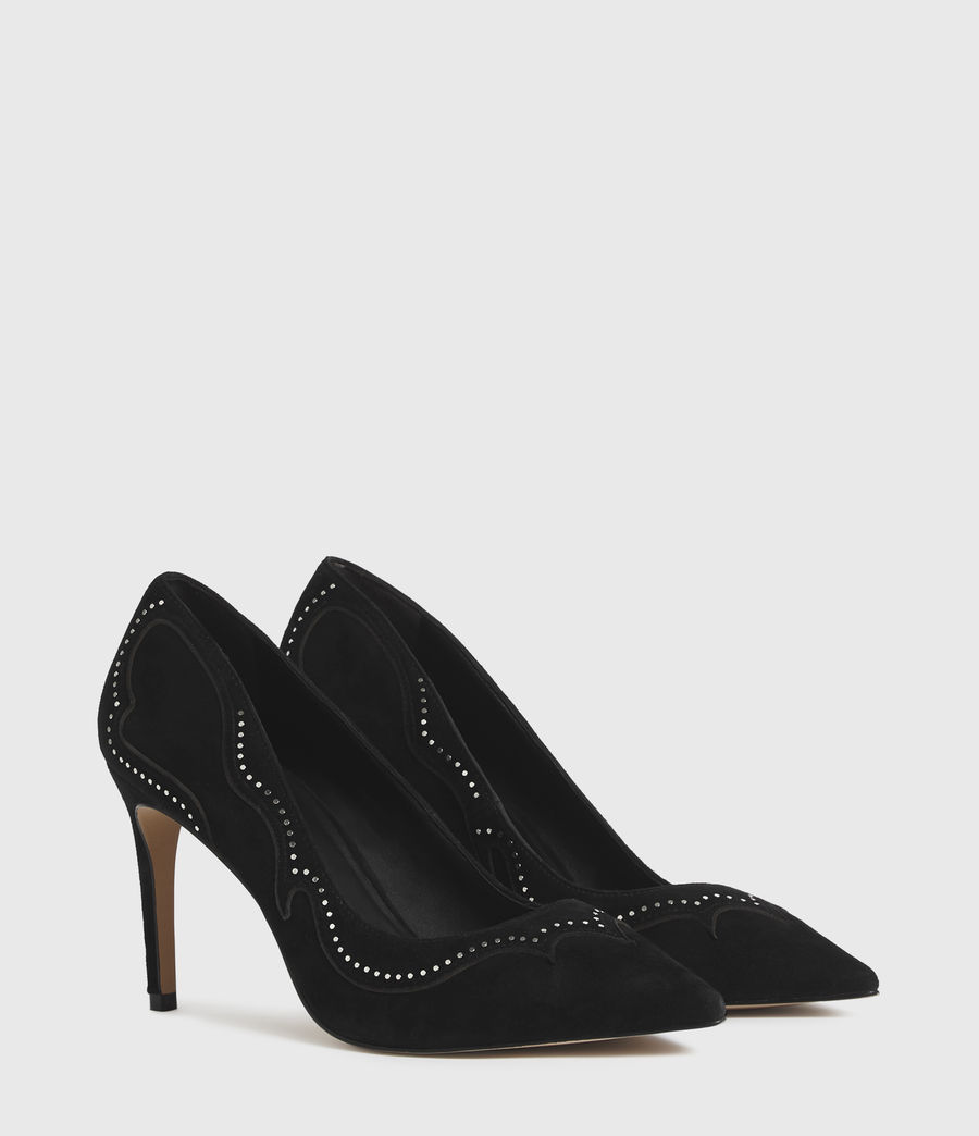 Mujer Zehra Suede Court Shoes (black) - Image 3