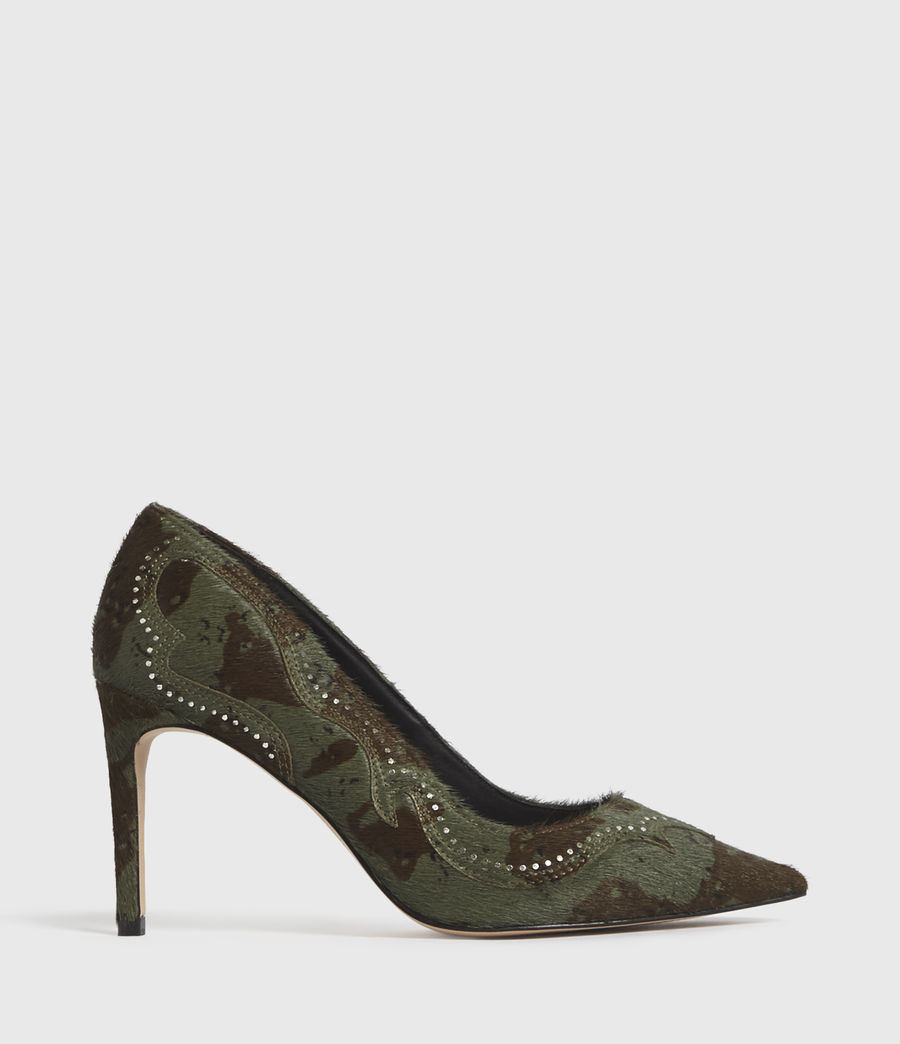 Mujer Zehra Leather Court Shoes (camo) - Image 1