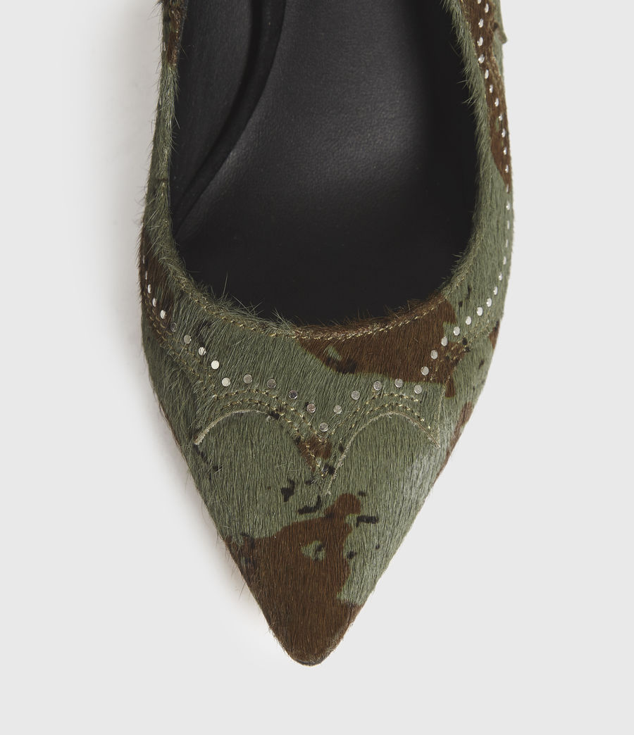Mujer Zehra Leather Court Shoes (camo) - Image 2