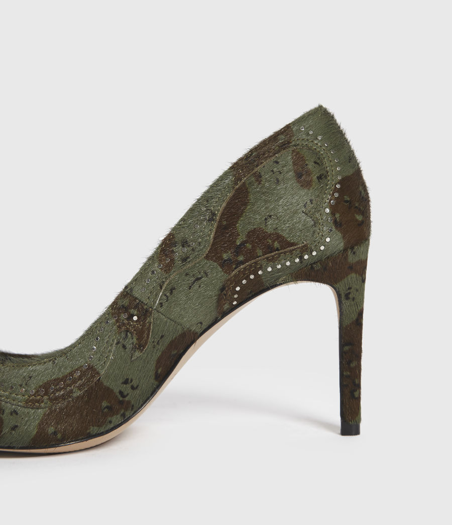 Mujer Zehra Leather Court Shoes (camo) - Image 5