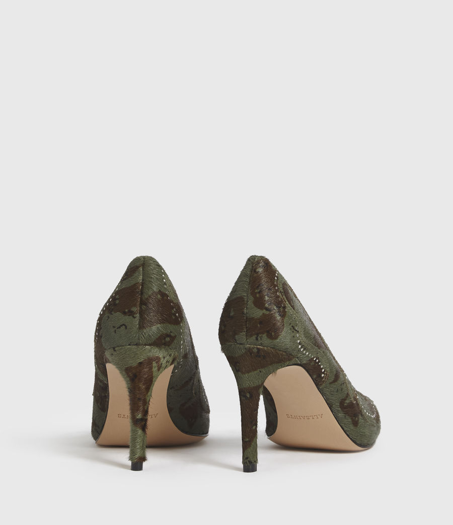 Mujer Zehra Leather Court Shoes (camo) - Image 6