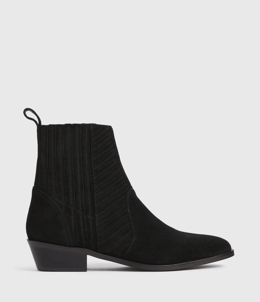 Women's Fion Suede Boots (black) - Image 1