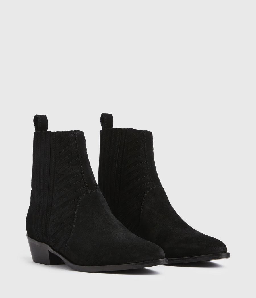 Women's Fion Suede Boots (black) - Image 3